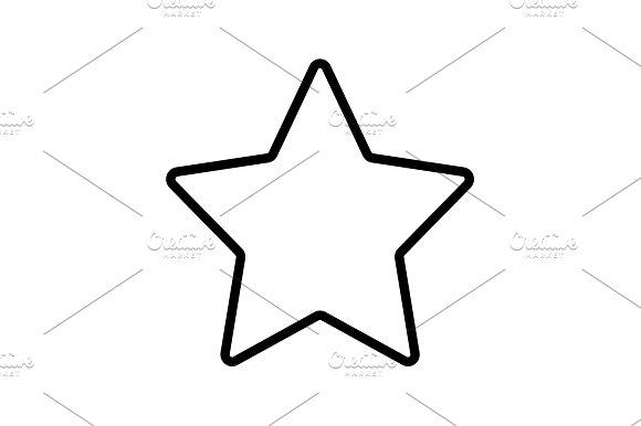 Web Line Icon Star Black