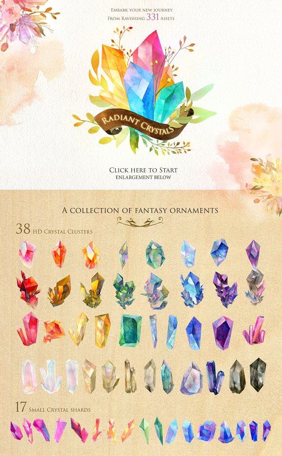 Radiant Crystals Graphic Set