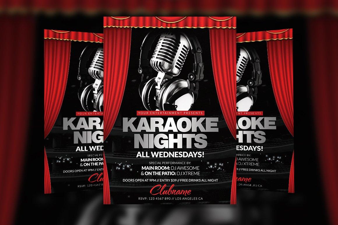 Karaoke Flyer Photos Graphics Fonts Themes Templates Creative