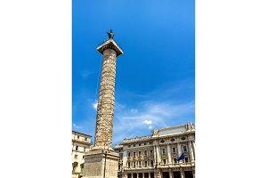Piazza Colonna Square in Rome