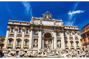 Palazzo Poli and Trevi Fountain in Rome, Italy