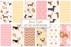 Dog Digital Paper - Vector Pattern