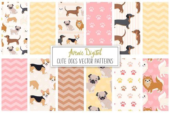 Dog Digital Paper Vector Pattern