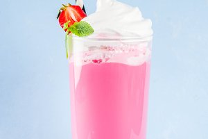 Cold strawberry  milkshake