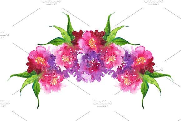 Watercolor Floral Composition Frame
