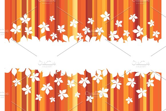 Autumn Leaf Banner With Border Of Maple Foliage