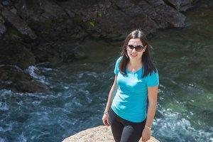 girl beside river