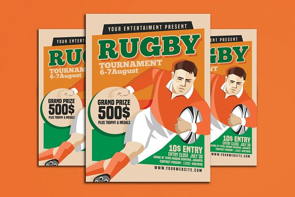 Rugby Tournament Vintage Style
