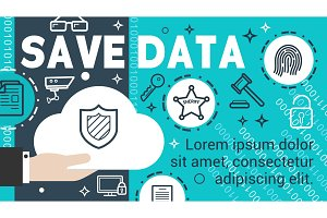 Data security banner of information protection