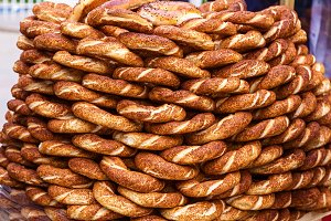 turkish bagel as a background