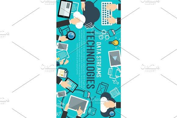 Data Management Banner Of Internet Technology