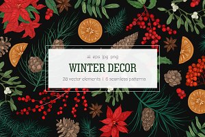 Winter decorative plants