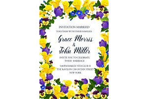 Flower frame for wedding invitation banner design