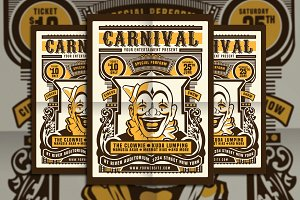 Vintage Circus Carnival Flyer Poster
