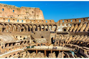 Arena of Colosseum or Flavian Amphitheatre in Rome