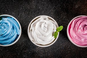 Various frozen yogurt