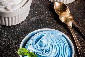 Various frozen yogurt