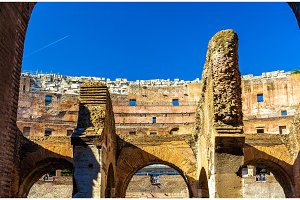 Details of Colosseum or Flavian Amphitheatre in Rome