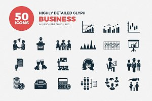 Glyph Icons Business Set