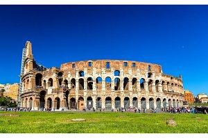 Colosseum or Flavian Amphitheatre in Rome