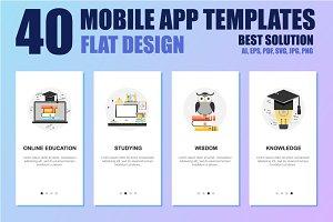Mobile App Templates Concept