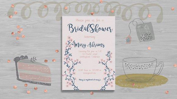 Floral Bridal Shower Card Template