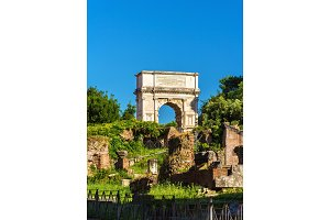 Arch of Titus in the Roman Forum, Italy
