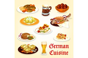 German cuisine icon for Oktoberfest menu design