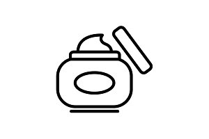 line icon. Hand cream, Face cream