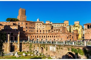 Forum and market of Trajan in Rome
