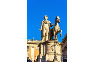 Statue of Dioscure on the Capitoline Hill in Rome
