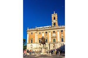 Equestrian Statue of Marcus Aurelius and Palazzo Senatorio