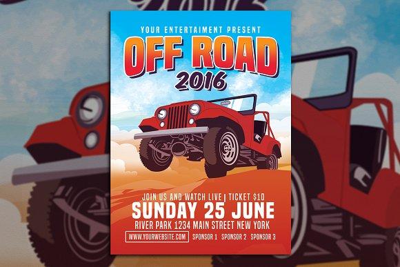 Car Off Road Flyer