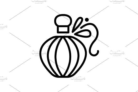 Web Line Icon Perfume Black