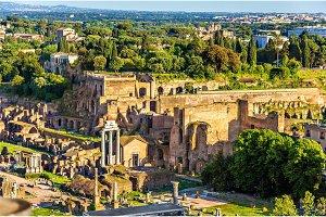 View of Domus Tiberiana in the Roman Forum