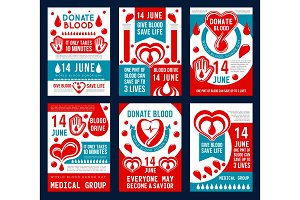 Blood donation banner for World Donor Day design
