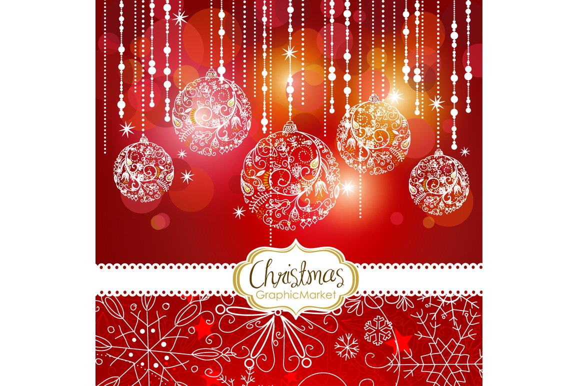 5 Christmas template designs Clipart ~ Illustrations ~ Creative Market