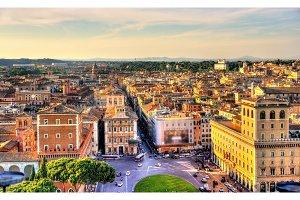 Piazza Venezia square in Rome
