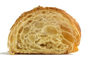 Croissant on white background