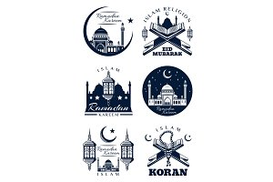 Ramadan Kareem islam religion greeting card design
