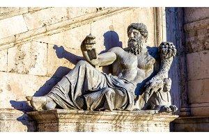 Marforio statue at Palazzo dei Conservatori