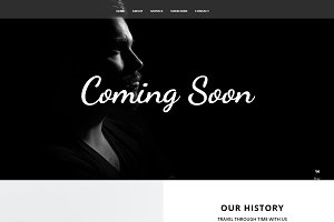 Cursive - Coming Soon Page HTML Temp