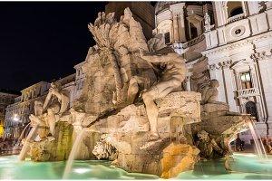 Fontana dei Quattro Fiumi in Rome