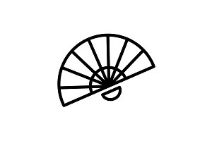 Web line icon. Veer, fan black