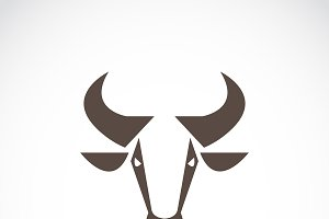Vector of a cow head design. Animal.