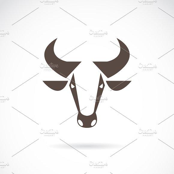Vector Of A Cow Head Design Animal