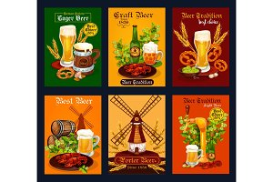 Beer drink poster for bar, pub or brewery design