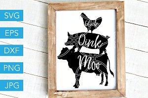 Oink Cluck Moo SVG Farm SVG