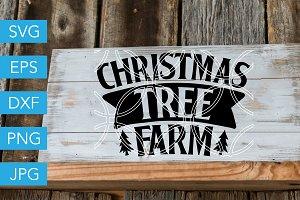 Christmas Tree Farm SVG Cut File