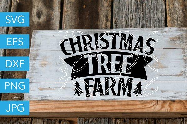 Christmas Tree Farm Svg Cut File Pre Designed Vector Graphics Creative Market